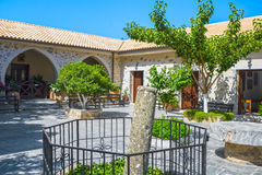 Courtyard of Monastery Kera Kardiotissa, Crete Stock Image