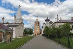 Courtyard of the monastery Stock Photography