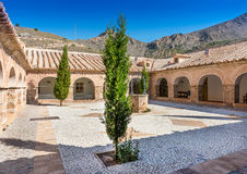 Courtyard at the Monastery Virgin Del Saliente Royalty Free Stock Photography