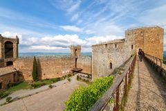 Courtyard of Montalcino Fortress in Val d`Orcia, Tuscany, Italy Royalty Free Stock Photos