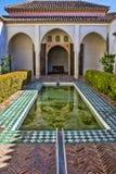 Courtyard at Moorish castle in Malaga Spain Stock Image