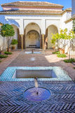 Courtyard at Moorish castle in Malaga Spain Royalty Free Stock Photos