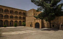 Courtyard of the Mor Gariel Monestry Stock Photography