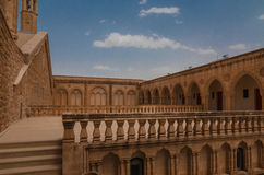 Courtyard of the Mor Gariel Monestry Royalty Free Stock Image