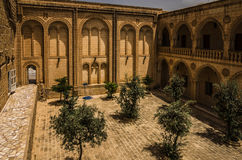 Courtyard of the Mor Gariel Monestry Stock Image