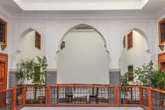 Courtyard in a Moroccan riad Stock Images