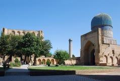 Courtyard. Mosque Bibi Khanum stock photos