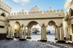 The courtyard of a mosque in Hurghada royalty free stock images