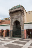 Courtyard of mosque Zaouia de Sidi Bel Abbes in Marrakech medina Stock Image