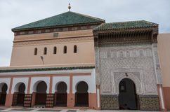 Courtyard of mosque Zaouia de Sidi Bel Abbes in Marrakech medina Royalty Free Stock Images