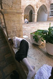 Courtyard at Mount Zion, Jerusalem Royalty Free Stock Photo