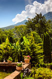 Courtyard in the mountains Royalty Free Stock Image