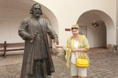 In the courtyard of Mukachevo Castle Palanok. Royalty Free Stock Photo