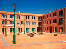 Courtyard in Murano, Italy Royalty Free Stock Photography