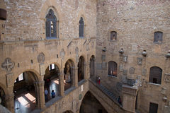 Courtyard in the Museo Nazionale del Bargello. Florence. Italy. Royalty Free Stock Photography