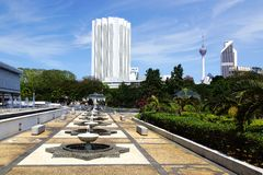 Courtyard of National Mosque. Kuala Lumpur Royalty Free Stock Photos