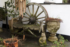 Courtyard near antiquarian shop. In England Stock Photo