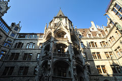 Courtyard of the Neues Rathaus in Munich Stock Photo