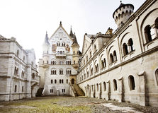 Courtyard of Neuschwanstein Castle. Courtyard view of Neuschwanstein Castle in Bavaria, Germany royalty free stock images