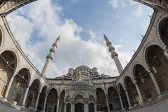 Courtyard of the New Mosque in Istanbul Royalty Free Stock Photo