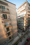 Courtyard in the new part of the city of Thessaloniki, Greece Stock Image