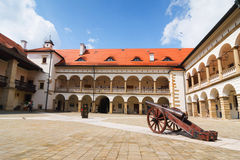 Courtyard of Niepolomice Castle Stock Photography
