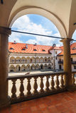Courtyard of Niepolomice Castle Royalty Free Stock Photos