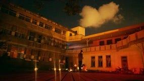 Courtyard at night Royalty Free Stock Image