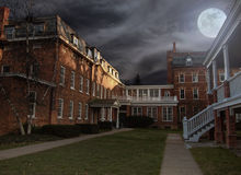 Courtyard at night Stock Image