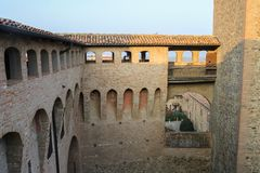 Free Courtyard Of Ancient Fortress In Vignola Stock Photography - 100888582