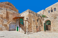 Free Courtyard Of Coptic Ortodox Church In Jerusalem. Royalty Free Stock Photography - 37620267