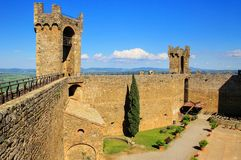 Free Courtyard Of Montalcino Fortress In Val D`Orcia, Tuscany, Italy Stock Photography - 101708752