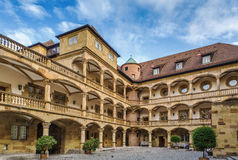 Courtyard of the Old Castle, Stuttgart, Germany. Courtyard of the Old Castle decorated with arcades, Stuttgart, Germany Royalty Free Stock Photo