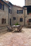 Courtyard of an old farm stock image