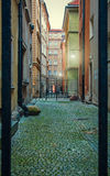 Courtyard. In the old town of Warsaw Stock Photo
