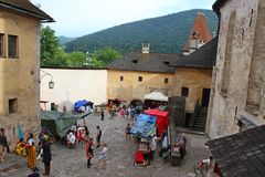Courtyard of Orava Castle, Slovakia. Orava Castle, one of the most visited castles in Slovak republic. This 13th century castle is located in Oravsky Podzamok royalty free stock image
