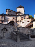 Courtyard of Orava Castle, Slovakia Stock Photo