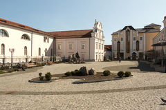 The courtyard outside the church. Vinnitsa Stock Photos