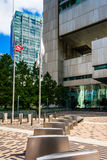 Courtyard outside the Federal Reserve Bank Building in Boston Stock Photo