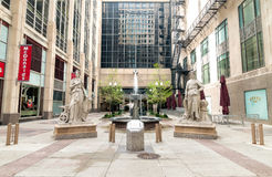 Free Courtyard Outside The Board Of Trade Centre In Chicago. Royalty Free Stock Photography - 98398257