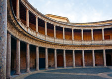 Courtyard of Palace of Charles V Royalty Free Stock Images