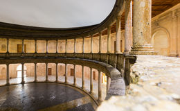 Courtyard of the Palace of Charles V at Alhambra.  Granada Stock Image