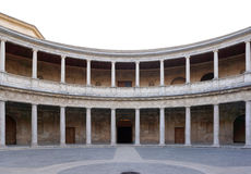 Courtyard of the Palace of Charles V at Alhambra palace, Granada Stock Images