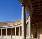 Courtyard of the Palace of Charles V in Granada Stock Photography