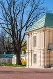 Courtyard of the palace. Lomonosov, Leningrad Oblast, Russia - May 10, 2015: Courtyard of Bolshoy (Menshikovskiy) palace. Located in Oranienbaum park on the Royalty Free Stock Photo