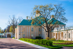 Courtyard of the palace. Lomonosov, Leningrad Oblast, Russia - May 10, 2015: Courtyard of Bolshoy (Menshikovskiy) palace. Located in Oranienbaum park on the Royalty Free Stock Photography