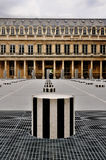 Courtyard of Palais Royale, Paris. Modern art in the courtyard of the royal palace (Palais Royale) in Paris, France Stock Photography