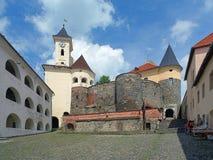Courtyard of Palanok castle in Mukacheve, Ukraine Royalty Free Stock Photos