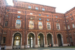 The Courtyard of Palazzo Carignano, Turin Royalty Free Stock Photography