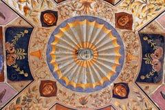 The courtyard of the Palazzo Chigi-Saracini Royalty Free Stock Photo